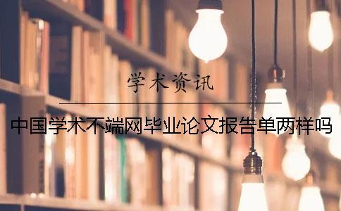 中国学术不端网毕业论文报告单两样吗